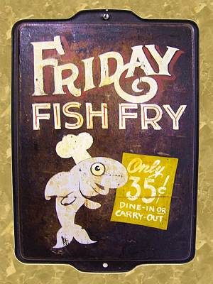 Found Objects Painting - Friday Fish Fry by William Krupinski