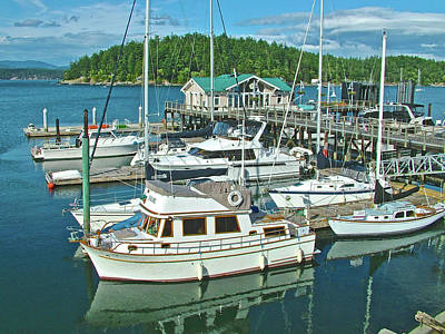 Photograph - Friday Harbor Docks On San Juan Island,washington by Ruth Hager