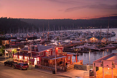 Sailboat Photograph - Friday Harbor Good Evening by Betsy Knapp