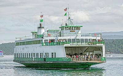 Seaport Photograph - Friday Harbor Tillicum Ferry by Betsy Knapp