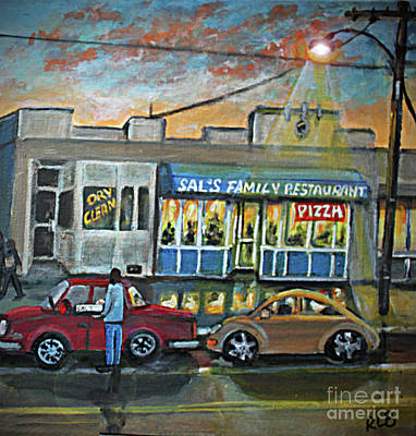 Painting - Friday Night At Sal's by Rita Brown
