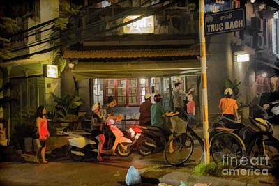 Friday Night Restaurant Vietnam  Art Print
