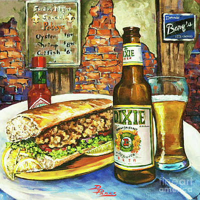Food And Beverage Wall Art - Painting - Friday Night Special by Dianne Parks
