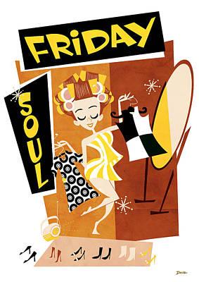 Cartoonist Digital Art - Friday Soul by Daviz Industries