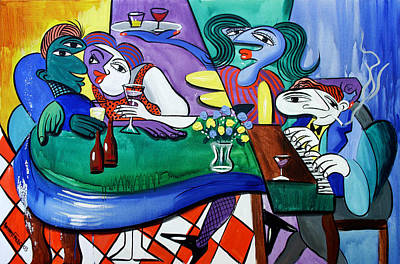 Beer Paintings - Fridays At Bernies by Anthony Falbo