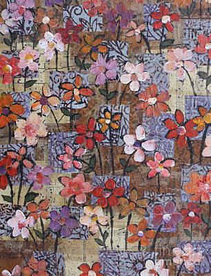 Mixed Media - Friday's Bouquet by Janyce Boynton
