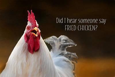Barnyard Mixed Media - Fried Chicken by Lori Deiter