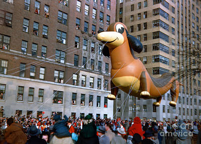 Typography Tees - Frieda the Dachshund, Macys Thanksgiving Day Parade, 1950 by Wernher Krutein