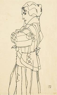 Drawing - Friederike Maria Beer by Egon Schiele