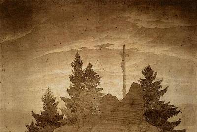 Caspar Digital Art - Friedrich Caspar David Cross In The Mountains by Caspar David Friedrich