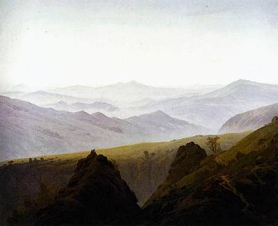 Caspar Digital Art - Friedrich Caspar David Morning In The Mountains by Caspar David Friedrich