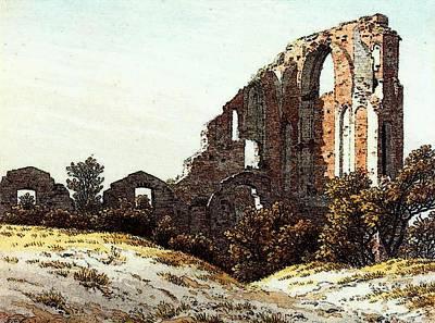 Caspar Digital Art - Friedrich Caspar David The Ruins Of Eldena by Caspar David Friedrich