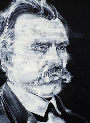 Painting - Friedrich Nietzsche - Acrylic Portrait by Fabrizio Cassetta