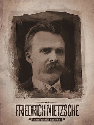 Quote Digital Art - Friedrich Nietzsche by Afterdarkness