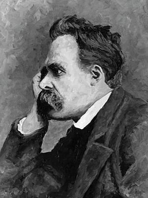 Painting - Friedrich Nietzsche by Christian Klute
