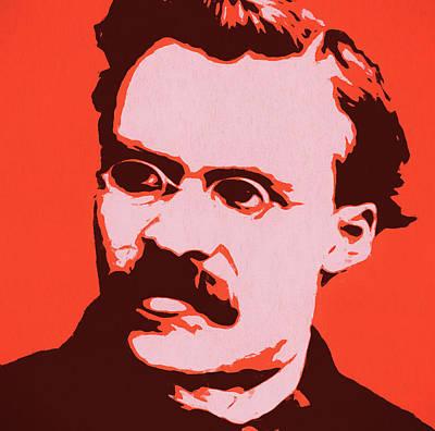 Painting - Friedrich Nietzsche Pop Art by Dan Sproul