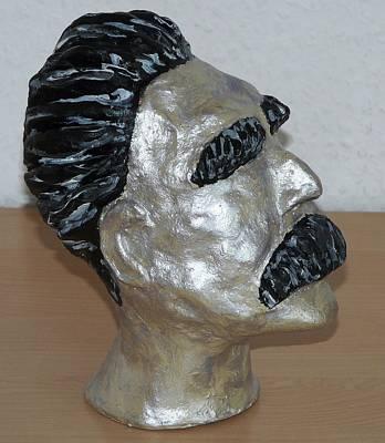 Sculpture - Friedrich Nietzsche by Valerie Ornstein