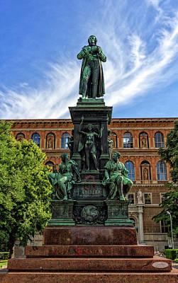Photograph - Friedrich Schiller Statue, Vienna, Austria by Elenarts - Elena Duvernay photo