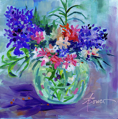 Painting - Friendly Bunch by Adele Bower