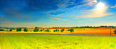Field Painting - Friendly Field by Bruce Nutting