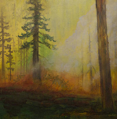 Wildfire Painting - Friendly Flames by Tonja Opperman