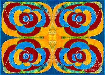 Digital Art - Friendly Forces Abstract Bliss Art By Omashte by Omaste Witkowski