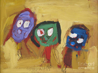 Painting - Friends. 2008. by Sophia Pontet