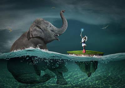 Surrealism Digital Art - Friends  by Aged Pixel