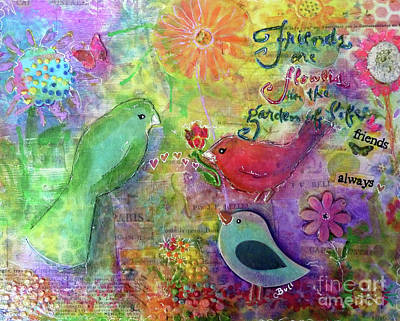 Wall Art - Painting - Friends Always Together by Claire Bull