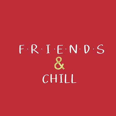 Digital Art - Friends And Chill Custom Order by Linda Woods