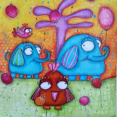Mixed Media - Friends And Family by Barbara Orenya