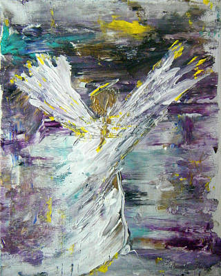 Hard Times Painting - Friends Are Angels by Colleen Ranney
