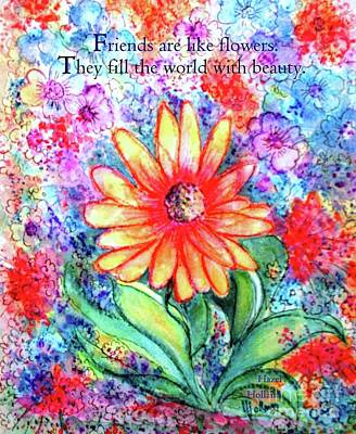 Painting - Friends Are Like Flowers by Hazel Holland