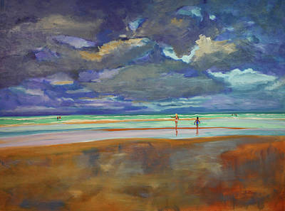 Painting - Beach Afternoon by Julianne Felton
