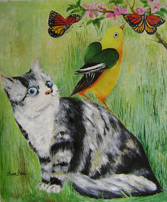 Friends Can Help Art Print by Lian Zhen