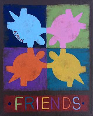 Painting - Turtle Friends by Carol Neal