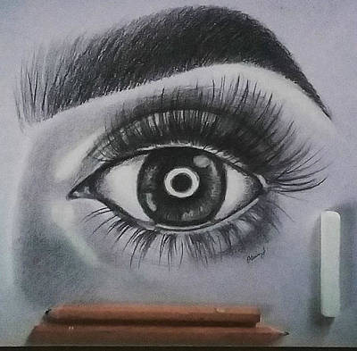 Drawing - Friend's Eye by Olivia Jones