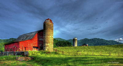 Photograph - Friends For Life Great Smoky Mountains Red Barn Art by Reid Callaway