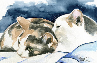 Friends Forever - Cat Painting Original