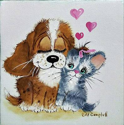 Painting - Friends Forever by Debra Campbell
