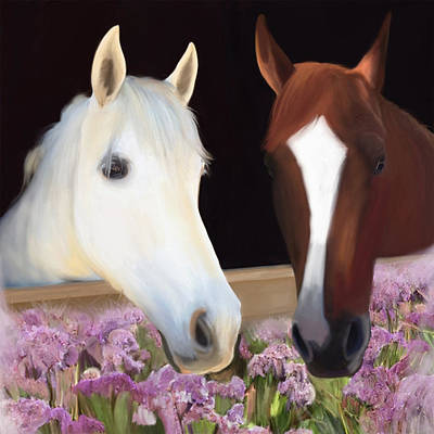 Painting - Friends Forever by Julianne  Ososke
