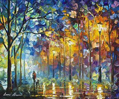 Friends Forever - Palette Knife Oil Painting On Canvas By Leonid Afremov Art Print