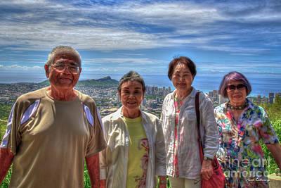Photograph - Friends From  Afar Honolulu Japan Art by Reid Callaway
