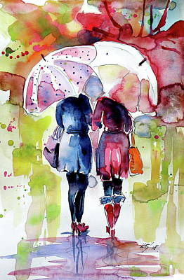 Painting - Friends IIi by Kovacs Anna Brigitta