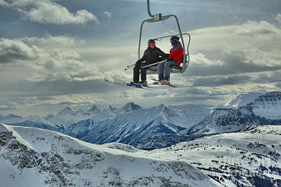 Photograph - Friends In The Sunshine Village Skies by Adam Jewell