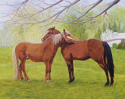 Painting - Friends by Jean LeBaron