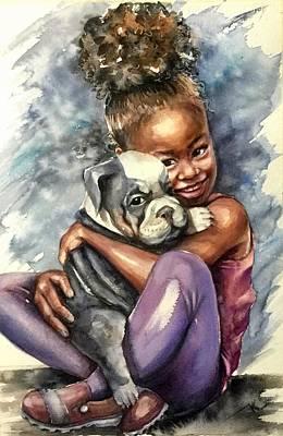 Painting - Friends by Katerina Kovatcheva