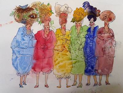 Painting - The Crazy Hat Society by Marilyn Jacobson