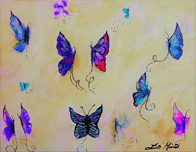Digital Art - Friends Of Butterflies And Fairies Painting by Lisa Kaiser
