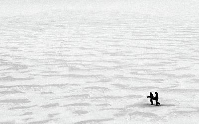 Photograph - Friends On Blue Mesa Lake Bw by Tim Richards